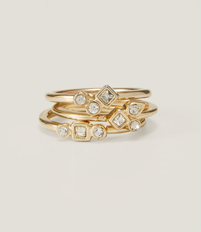 Primary Image of Geo Pave Ring Set