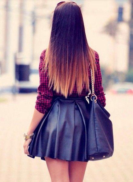омбре на темные волосы прическа