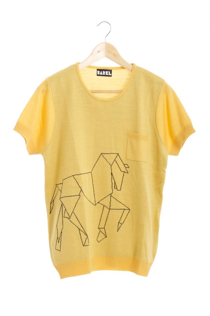 C a b a l l o origami (amarillo) delantero