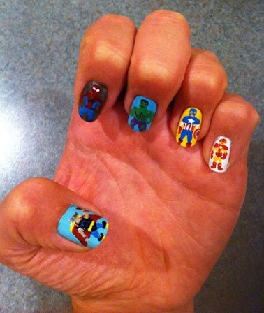 99 best nails images on pinterest artists beach and enamel avengers spiderman nail art thor spiderman the hulk captain america ironman prinsesfo Choice Image