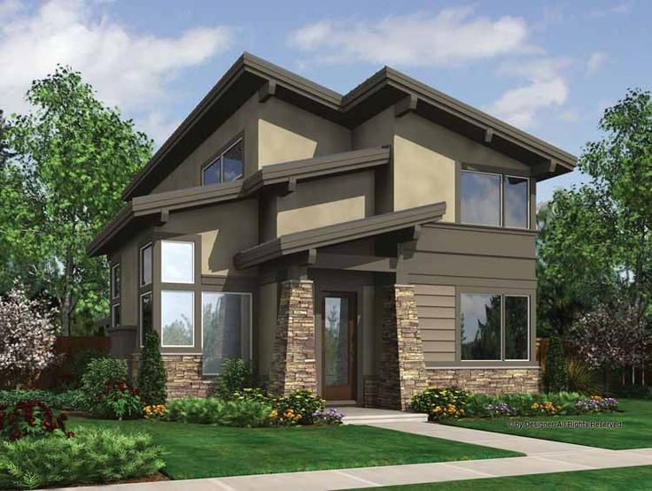 Eplans+Contemporary-Modern+House+Plan+-+Fun,+Funky,+and+Efficient+-+1986+Square+Feet+and+3+Bedrooms+from+Eplans+-+House+Plan+Code+HWEPL67324