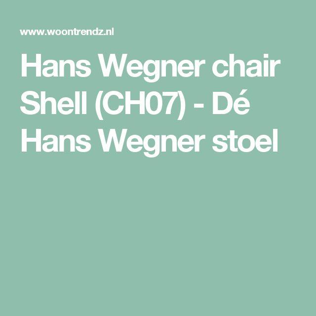 Hans Wegner chair Shell (CH07) - Dé Hans Wegner stoel