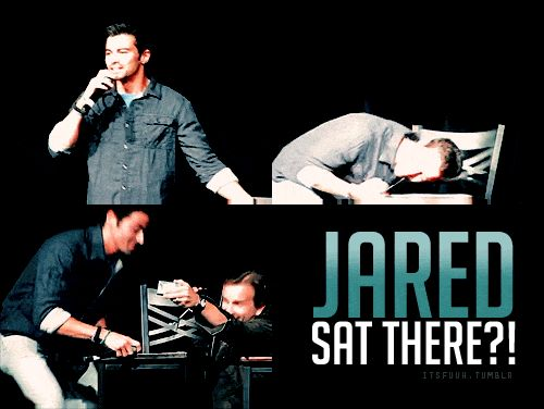 "Matt Cohen  Richard Speight Jr. of Supernatural - ""Jared sat there?!""... Yep, I'd be trying to steal the chair!"