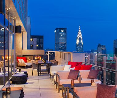 Sept 2014: Best Rooftop Bars in NYC: Photo: Bar 54 at Hyatt Times Square [Nice view] 1/221/23/1/24