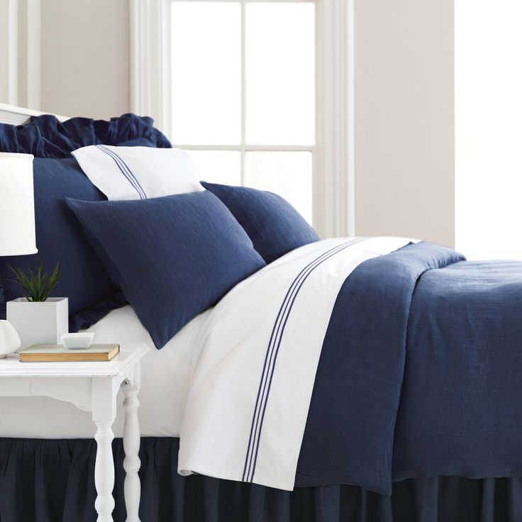 PCH Trio Indigo Flat Sheet @Zinc_Door