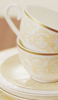 Ivoire teacups   Villeroy & Boch