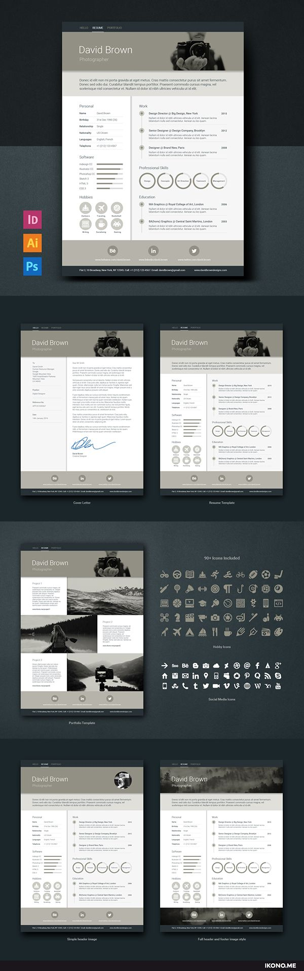67 best resume templates images on pinterest creative resume