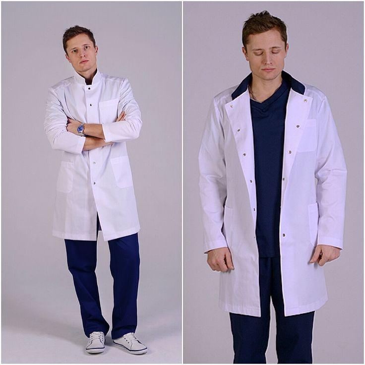 Медицинская одежда для мужчин. Купить на www.lechikrasivo.ru #медицинская #одежда #халат #спецодежда #хирург #костюм #медодежда #для #врача