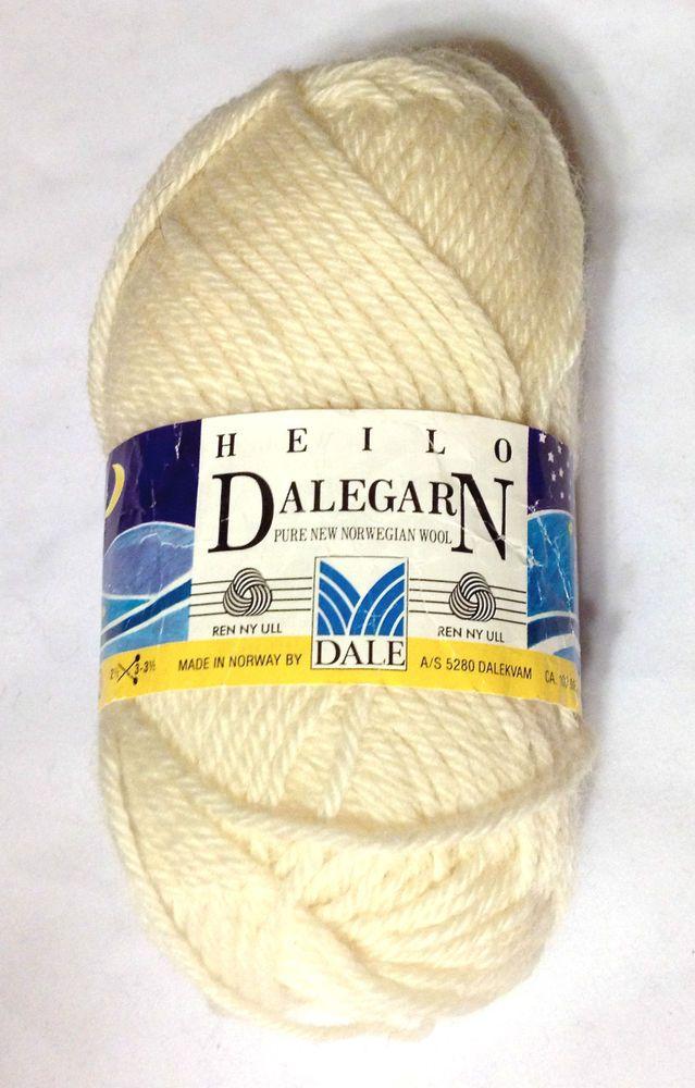 Dalegarn Dale of Norway 0020 Natural Pure New Norwegian Wool 1 Skeins #DaleofNorway