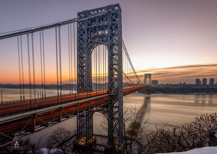 Got Up To Catch A SunRise Over The GWB But was a little late to the show but caught the After party Still Some Nice Light .. Best Viewed On Black Back Round Thank You 4 your Support    http://instagram.com/anthonyfieldsphotography  http://1-anthony-fields.artistwebsites.com/index.html  https://www.facebook.com/AnthonyjayFields
