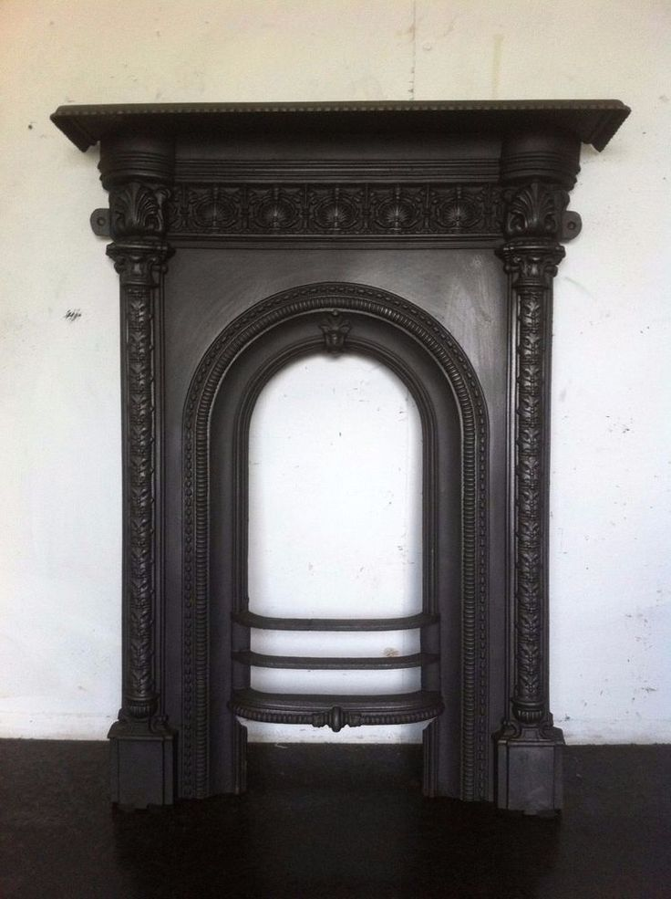 Reclaimed original Antique Victorian black cast iron ornate fireplace. A working fire suitable for a bedroom, small room or can be used as a decorative piece. The fireplace has been sandblasted primed and finished with a coat of Thermolac (specialist heat proof paint). | eBay!