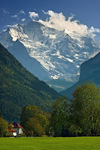 View of the Jungfrau from Interlaken