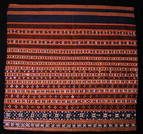Tapis / Ceremonial Garment Lampong, Sumatra, Late 19th century Technique: Cotton and silk, with metallic yarn embroidery, mica and sequins
