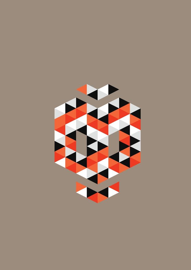 Triangular pattern series byRoberto Tenorio