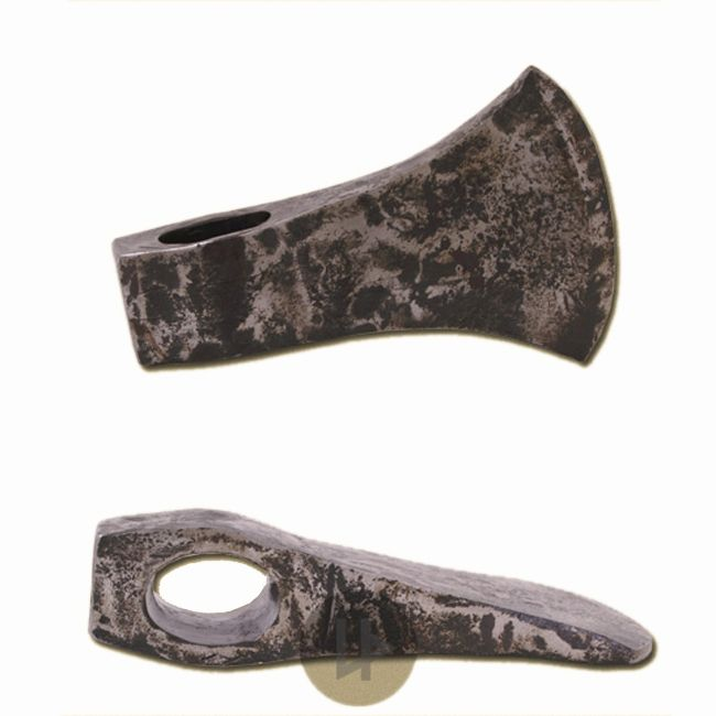 Hand forged Axe Head made from carbon steel Due to its workmanship and material thickness this axe head is perfect for battle reenactment The cutting
