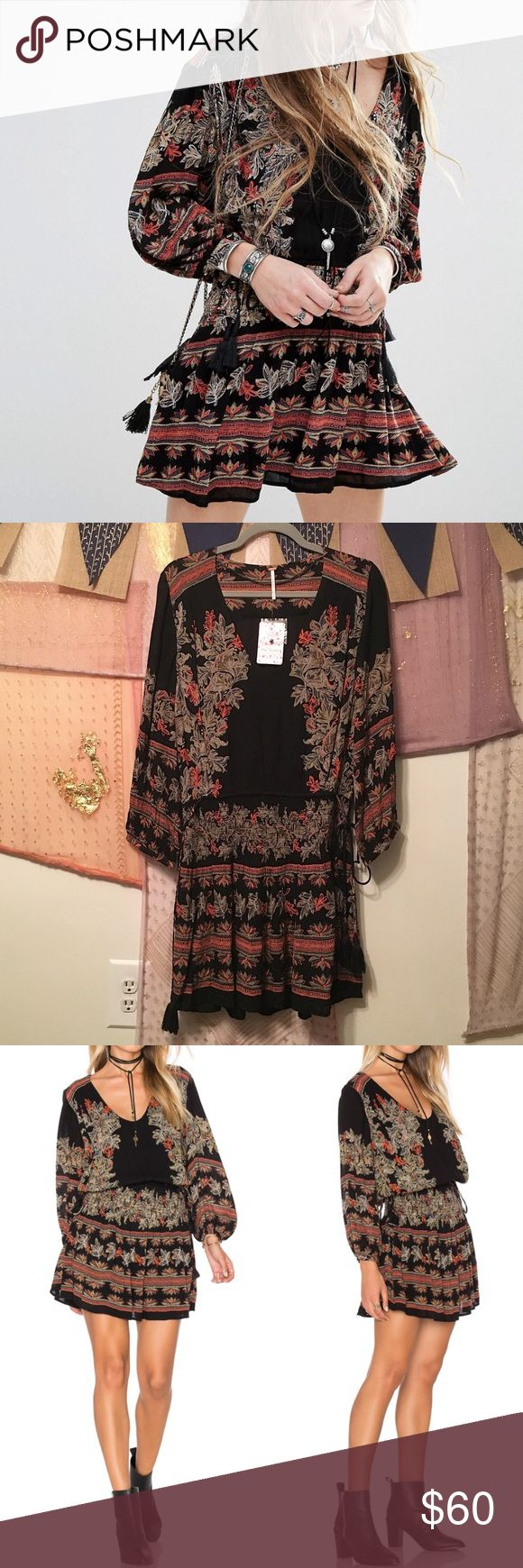 """Free People Floral Mini Dress Size S NWT Free People Floral Mini Dress Size S. Current season. Length is approximately 35"""". No trades. PRICE IS FIRM. Free People Dresses Mini"""