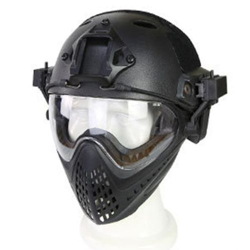 Large PJ Type Tactical Fast Helmet Mask Goggle for War Game Airsoft Paintball