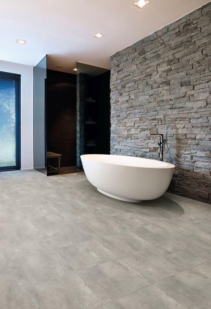 Hochwertiger Badezimmer Boden In Fliesenoptik Vinylboden Rustikales Badezimmer Dekor Vinylboden Fliesenoptik