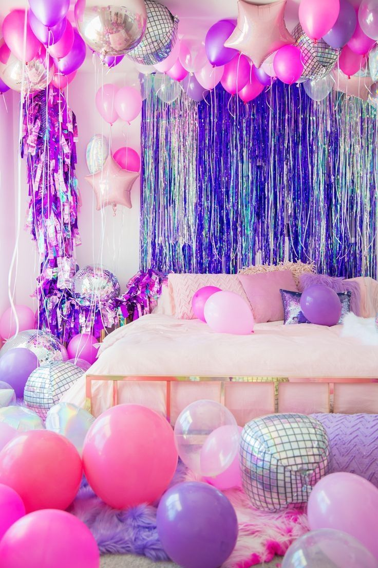 Personalised Balloons Banners Worldwide Delivery By Evalonlinepartyshop In 2020 Slumber Party Decorations Birthday Streamers Birthday Balloon Decorations