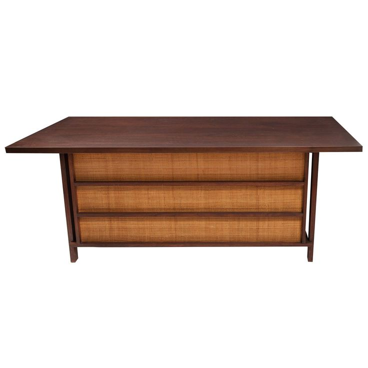 New Hope Craftsman Desk in the Style of George Nakashima | From a unique collection of antique and modern desks at https://www.1stdibs.com/furniture/storage-case-pieces/desks/