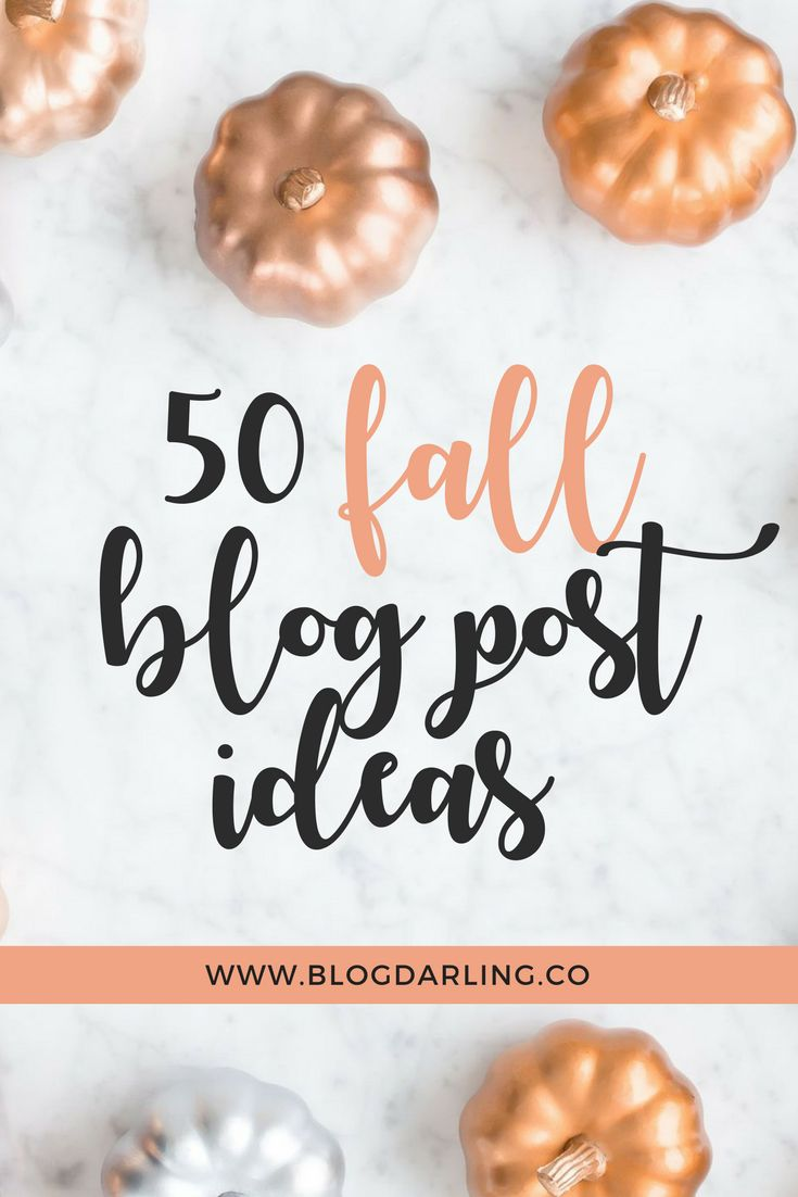 Fall blog post ideas for bloggers.
