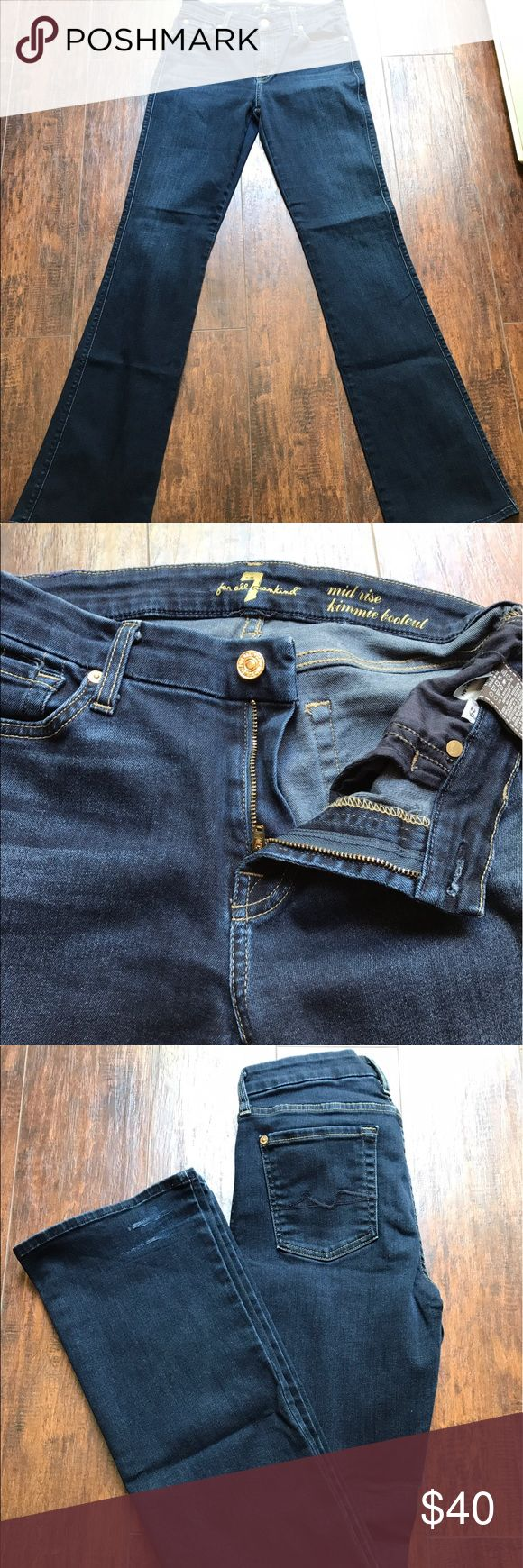7 For All Mankind Kimmie Bootcut Jeans Great condition! Mimi's Boot Cut, 7 for all mankind women's jeans! 7 For All Mankind Jeans Boot Cut
