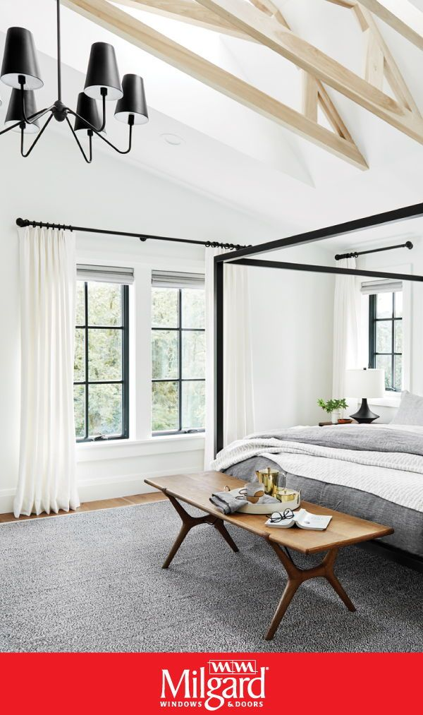 Bedroom Window Ideas In 2020 Bedroom Windows Black Window Frames Bedroom Styles