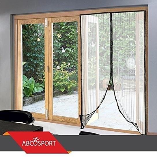 Buy magnetic screen door full frame velcro fits door for Buy screen door