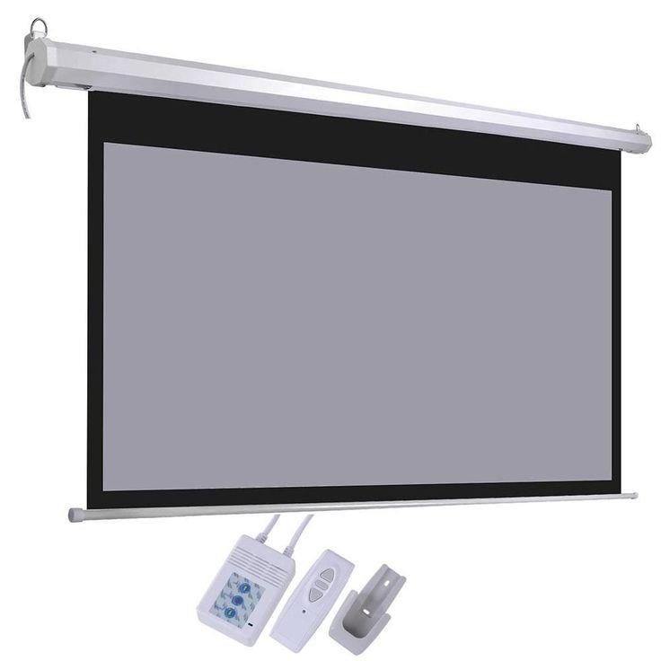 "100"" 16:9 Electric Motorized Projector Screen Wall Ceiling w/ Remote #projectorscreen"