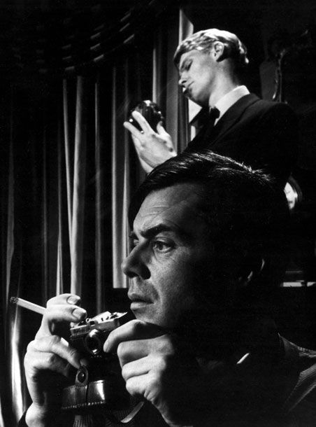 The Servant with Dirk Bogarde & James Fox. One of the best movies of the 60s.
