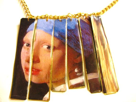 Girl with a pearl earring Handmade Statement by HandmadeMyDay