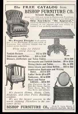 Bishop Furniture Arts Crafts 1905 Print AD Grand Rapids Advertisement