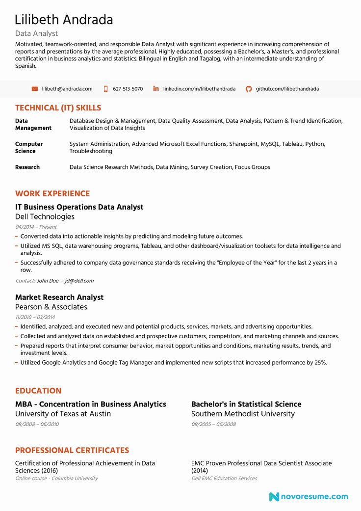 20 Data Analyst Resume Entry Level in 2020 Professional
