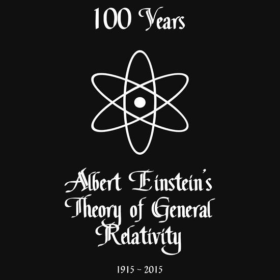 100 Year Anniversary Albert Einstein's Theory of General Relativity by Samuel Sheats on Redbubble. Available as T-Shirts & Hoodies, iPhone Cases, Samsung Galaxy Cases, Home Decors, Tote Bags, Prints, Cards, Kids Clothes, iPad Cases, and Laptop Skins. #einstein #science #humanism #physics