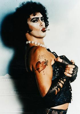 Tim Curry. Just a sweet transvestite from transexual Transylvania