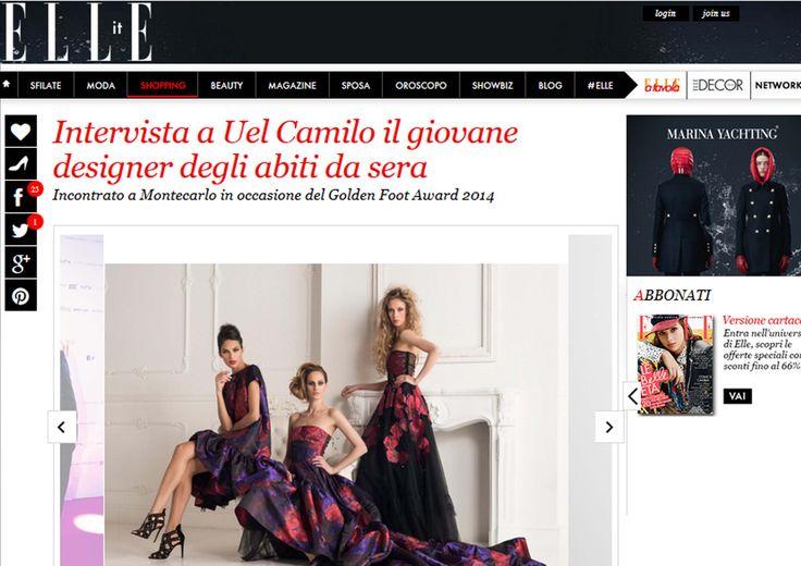 exclusive interview Uel Camilo @Elle.it