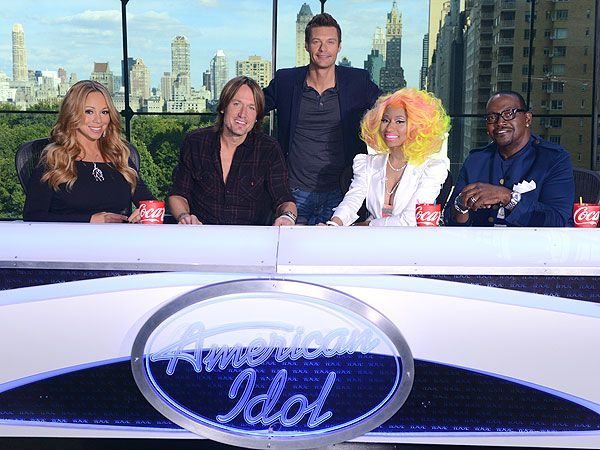 American Idol: Mariah Carey, Keith Urban, Nicki Minaj & Randy Jackson