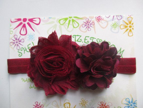 "Pair Small 2.5"" Girls Burgundy Red Velvet Hair Bow Clips Wedding Flower Girl"