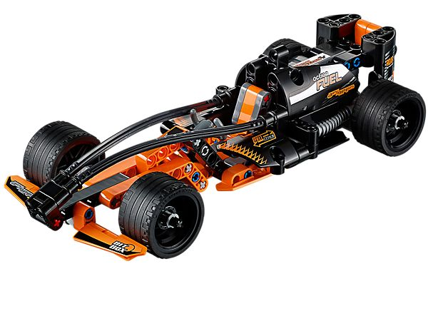 Pull back, release and watch the Black Champion Racer win the day!