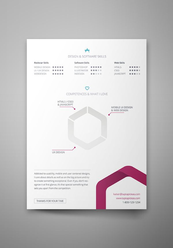 13 best Free Resume\/CV Templates images on Pinterest Cover - visual resume templates
