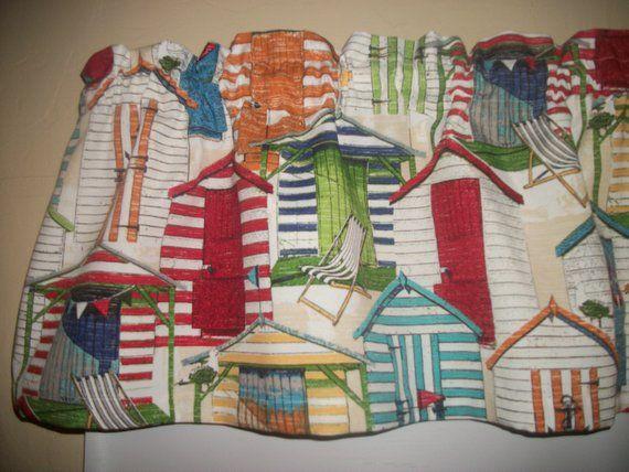 Hut Beach Cabana House Pool Chair Porch Kitchen Fabric Curtain