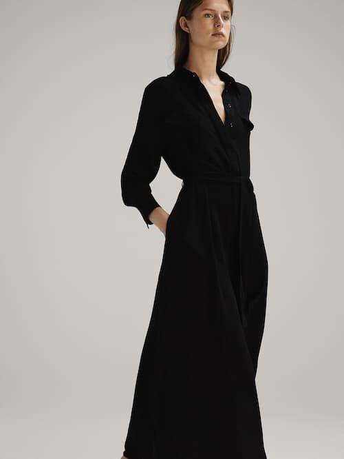 52ba4af8e7d2 Vestido negro camisero tapetas en 2019 | Garment ✨ | Vestidos ...