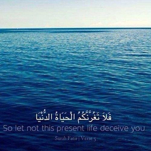 Dont let life deceive you. Surah Fatir.