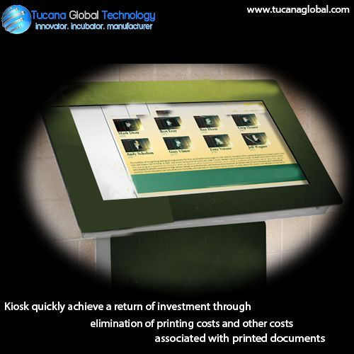 #Kiosk quickly achieve a return of #investment through elimination of #printing costs and other costs associated with printed #documents. #TucanaGlobalTechnology #Manufacturer #HongKong