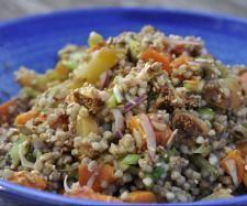 Winter Buckwheat Salad with Sweet Potato, Yams and Figs