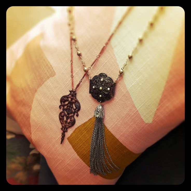 Repurposed charm necklaces available at Betty Mim in Newcastle