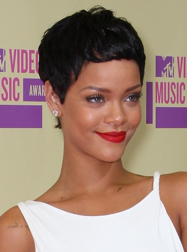 The pixie is one of the hottest hairstyles of the moment. See which cuts are most popular and which face shapes and hair textures work with a pixie.: Rihanna's Pixie Hairstyle