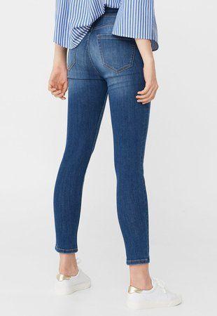 Jeansi skinny albastri Noa ieftini dama #pantaloni #jeansi #BlugiDama