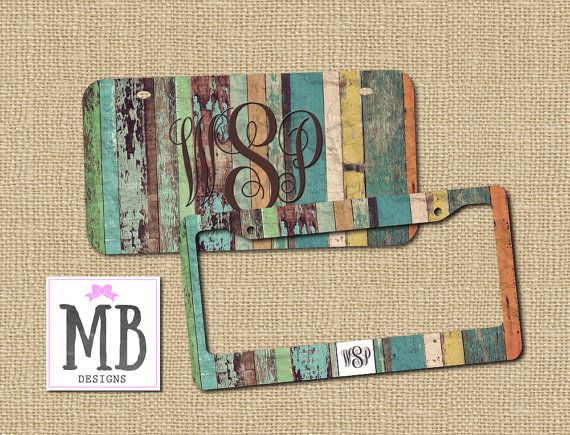 Wood License Plate License plate Personalized by MacyBlueDesigns