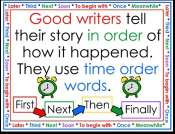 FREE adorable Writing Sequence Anchor for Narratives ...  love it!!
